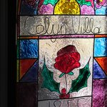  Our stain glass window with its date of 1855