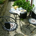Enjoy a cup of tea in the garden
