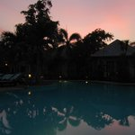 pool area in the evening