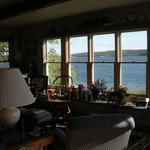 The living room - view to the water