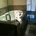  wonderful soaker tub in our suite