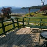 view from our deck at April Point Lodge