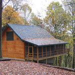 Sunset Cabin screened porch