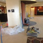 doing a remodel to the lobby