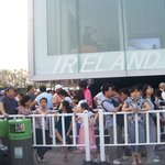 Line Outside Ireland Pavilion