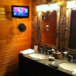  Beautiful bathroom, with a t.v.