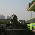  Lions guarding the hotel entrance
