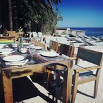 La Escollera restaurant, at Es Cavallet beach
