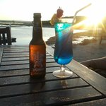 Vuna beer & Fiji Blue cocktail