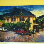  banana bungalow painting.