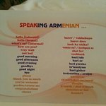 Speaking Armenian :)