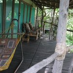 Porch with a hammock