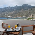  Double bed room with sea view balcony Kamares bay view