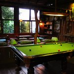  The pool table and comfy seating areas