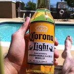 Corona at the pool