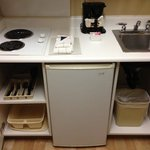 kitchenette lower cupboards