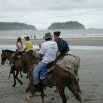 After Horse Tour - trotting on the beach