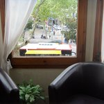  Bus stop in front seen from window of ensuite sunroom