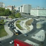  another view from our window of the Marquis of Pombal Square