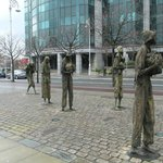  Famine Statues in Dublin, Ireland