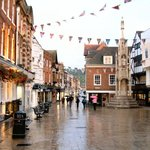Winchester main street on a wet day