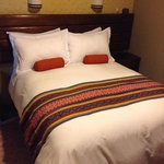 comfy big bed and pillows