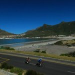 Bicycle race going through Hout Bay while we were there