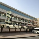  A front view of Karama Hotel