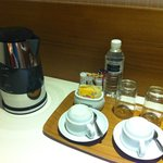 Complimentary Coffee/ Tea - there are 2 bottles of water per day