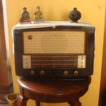  An old radio on display