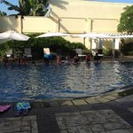  At the swimming pool area.......enjoying the summer swimming lesson they offer.