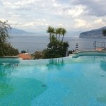 view from pool of Mount vesuvius