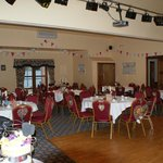  Function room set up for Victorian Steampunk tea