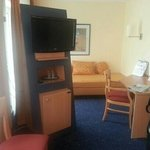 flat screen tv and minibar