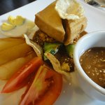 Our gado-gado. It's wayyy too neat for a gado-gado :)