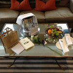  Our lovely gifts in our suite.