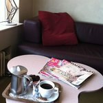 My lovely relaxing coffee with magazines