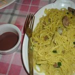 Ilocano noodle dish...kinda weird, not my type
