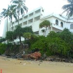 The back of the hotel from the pvt beach