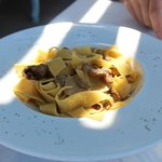 some of the BEST pasta I've had in my life. Cooked to perfection with veal