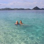 Enjoying our snorkeling and swimming stops...