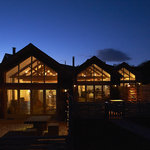 The Eco Cottages at night