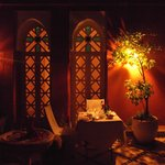 Our private candle lit dinner in the riad