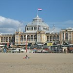 Majestic building seen from Scheveningen beach