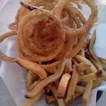 """Best of Both Basket"" Fries & Onion Rings"