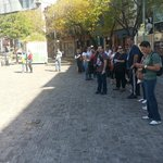  Enorme fila no Caminito onde esperamos os nibus por mais de 1h