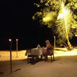 Private beach dinner for 2