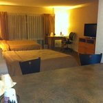Large room with two double beds