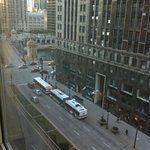 View of Michigan Ave and Chicago River from room 1001