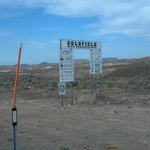  Information signs coming into Goldfield